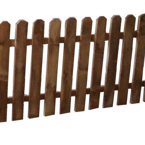 Ξύλινος Φράχτης Αυτοϊστάμενος Με Λεία Τάβλα